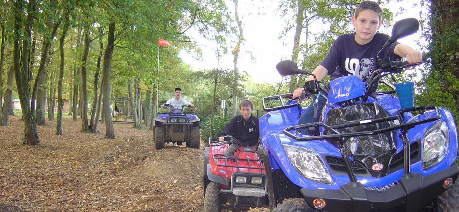 Virée en quad de notre camping près de Paris