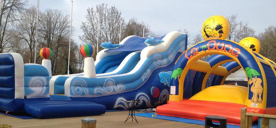 Les jeux enfants gonflables de notre camping des Yvelines